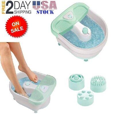 X Large Feet Foot Spa Bath Massager Heat Soaker Massage Bubble Roller Deep -