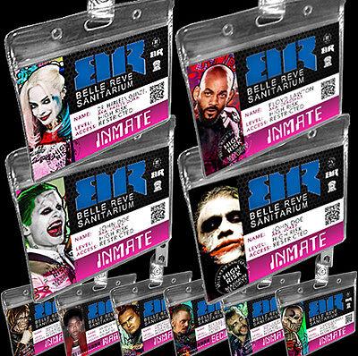Belle Reve Suicide Squad Deadshot Harley Quinn Halloween Costume Joker Badge ID - Suicide Squad Joker Costume Halloween