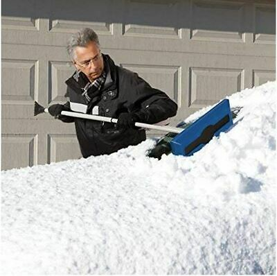 "Snow Removal Shovel Ice Scraper Extendable 52"" Telescoping Snow Broom Foam Car"