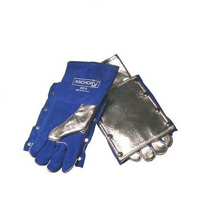 Anchor 4200al Aluminized Welding Gloves Wback Pad Wool-lined Nice New