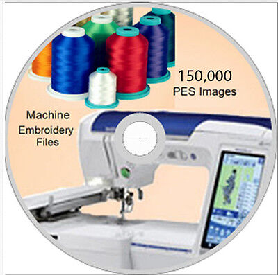 Machine Embroidery designs 150,000 PES on DVD Disc - Brother- WOW