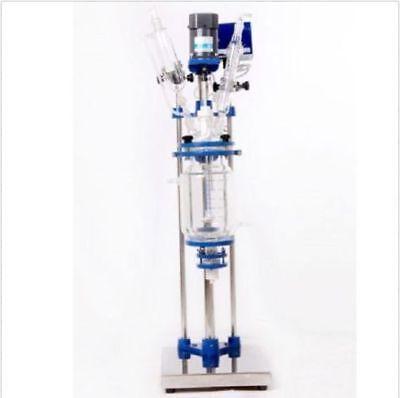 5l Chemical Lab Jacketed Glass Reactor Vessel 110v Or 220v Digital Display U