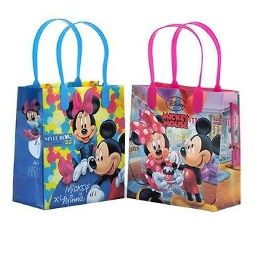 12PCS Disney Mickey and Minnie Authentic Licensed Party Favor Gift Birthday Bags - Minnie And Mickey Party Supplies