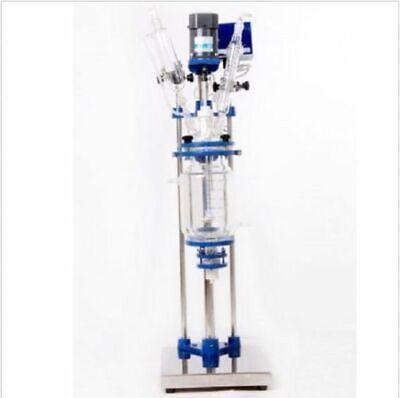5l Chemical Lab Jacketed Glass Reactor Vessel 110v Or 220v Digital Display Y