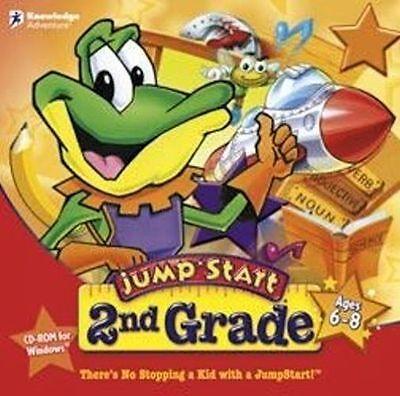 Jumpstart 2nd Grade   Math Science Grammar Writing Creative Games XP Vista 7 8 - 2 Grade Math Games