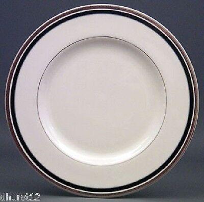 PICKARD CHINA USA DINNER PLATES DIPLOMAT PLATINUM BLACK