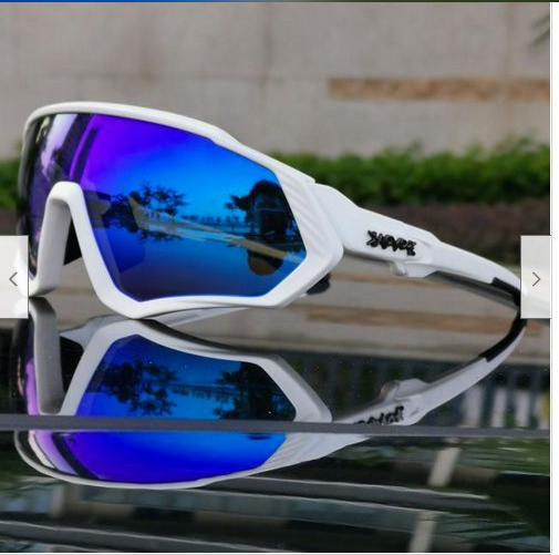 NEW Unisex White Cycling Sunglasses With 5 Lenses By KAPVOE TR90 - $29.14