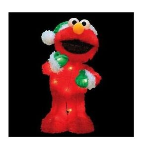 18 sesame street lighted elmo 3 d soft tinsel christmas for 3 d lighted christmas pig holiday outdoor decoration