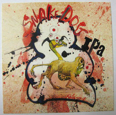 SNAKE DOG IPA Beer STICKER, Flying Dog Brewery, Frederick, MARYLAND, label, NICE