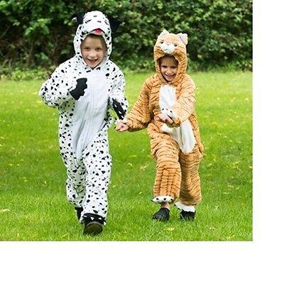 Dalmatian Dog Tabby Cat fancy dress BNWT 2-8y Girls Boys Book Week Plush - Tabby Cat Costume