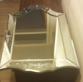 Ornate mirror with mirror frame