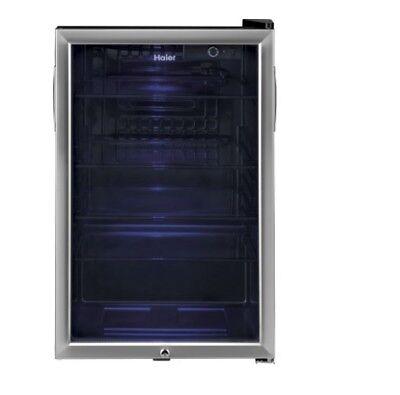 Beverage Refrigerator Cooler 150 Can Stainless Steel Beverage Center Locking Hom