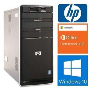 HP Pavilion P6310f: 4 cores 2.8GHZ, 8GB RAM, 500 GB HD: 150$