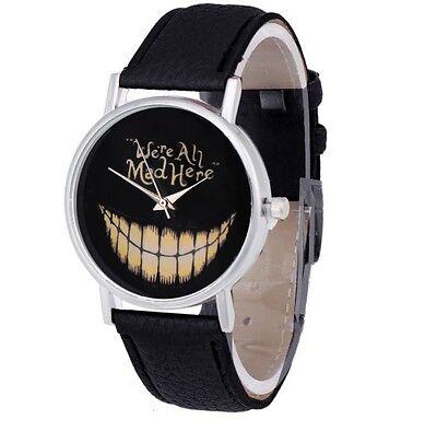 Mens Womens Gothic Retro Novelty Gift Black Wrist Watch - Fun Unusual Design