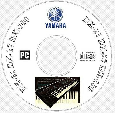 Yamaha DX21 DX27 DX100 Sound Library, Patches, Manual MIDI Software & Editors CD for sale  Guelph
