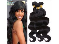 6A unprocessed human hair body wave brazilian hair 3 bundles (inquire about pricing for lenghts)