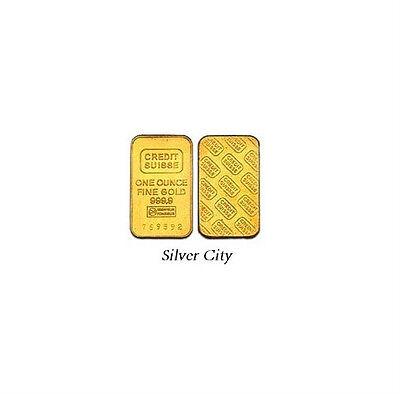 1 Ounce Credit Suisse  9999 Fine Gold Bar 1Oz
