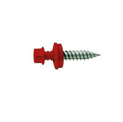 10-14 X 3 Barn Red Hwh Sharp Point Sheet Metalroofingsiding Screw Qty 150