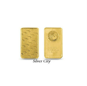 1 Ounce Perth Mint Kangaroo 9999 Fine Gold Bar 1oz Ebay