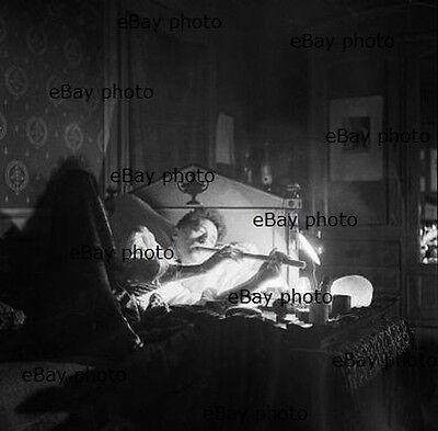 "JEAN COCTEAU smoking opium pipe – Unknown 1930 Cecil Beaton 12""x12"" photograph"