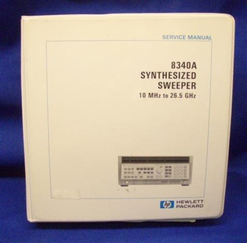HP 8340A Synthesized Sweeper SERVICE Manual Vol 3