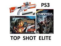 PlayStation 3 Top Shot Elite Cabelas Rifle Gun + 2 Games Bundle for ps3 UK Delivery