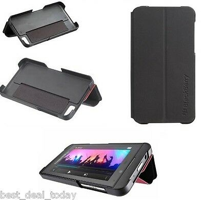 OEM Rim Blackberry Flip Shell Case Fit For Z10 BB10 BB-10 Black Verizon AT&T Blackberry Z10 Flip Shell