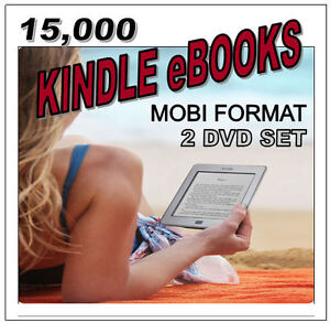 15,000 KINDLE eBOOKS - MOBI FORMAT - 2 DVD SET