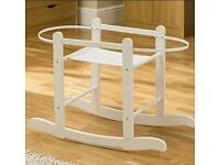 Kinder valley white Rocking moses basket stand. Brand new in sealed boxes
