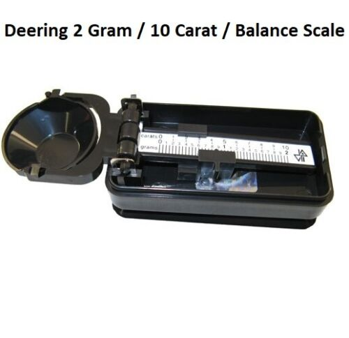 New Deering 2 Gram 10 carats Pocket Travel Size Balance Scale