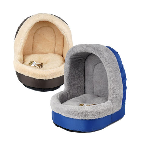 Pet Bed W/ Dome Ceiling Soft & Warm Small/Med Dogs Cats 2 Co