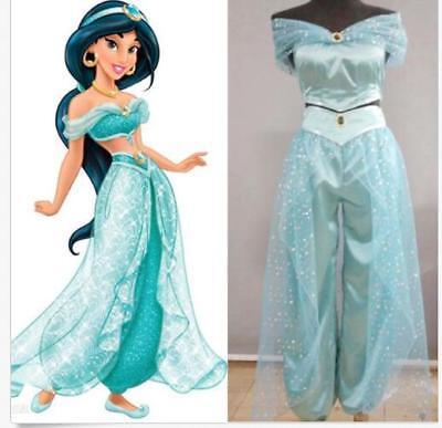 Disney Prinzessin Aladdin Anzüge Jasmine Damen Kostüm Cosplay Party Karneval DE ()