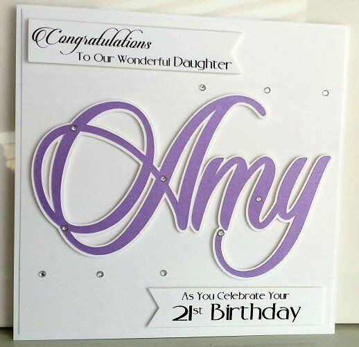 Personalised 18th Birthday Card Daughter21st Card Daughter16th