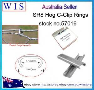 10 000 Hog Ring Staples SR8 for Pliers Fencing Fence Ring Gun,Galvanizd-57016