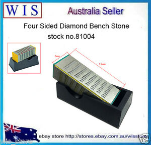 4 Grit Sides Tool Diamond Sharpening Stone Whetstone Cutter Sharpener-81004