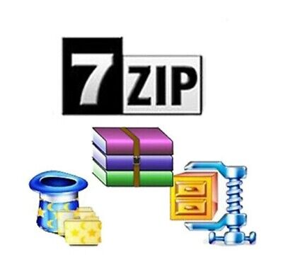 7Zip compression and Extraction Software Zip Unzip Compatible with WinZip WinRAR