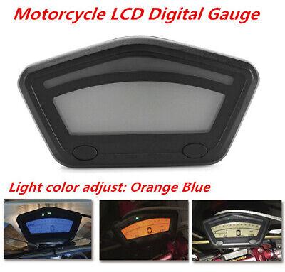 Motorcycle Motocross LCD Digital Gauge Panel Speedometer Tachometer Odometer 12V