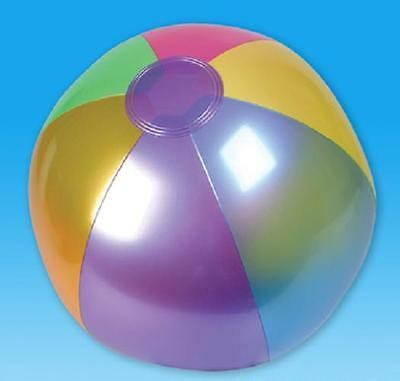 "48 METALLIC BEACH BALLS  18"" Pool Party Beachball NEW! #ST58 Free Shipping"