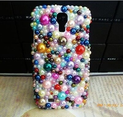 Mixed Colour Pearl Crystal Bling Case Cover For Samsung Galaxy Note II 2 NEW ^C9 on Rummage