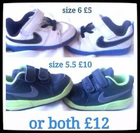 Infant boys trainers etc