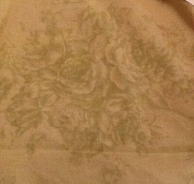 Rachel Ashwell Shabby Chic Serenity Butter Fabric Sample 1 Yd Light Fern Rose, used for sale  Mobile