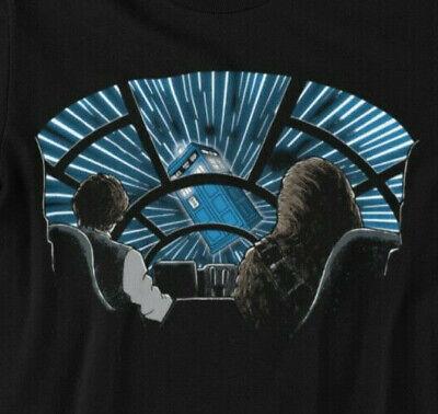 T-Shirt Star Wars vs Dr.Who|Tardis|Dalek|Han Solo|Chewie|Herren Damen S-5XL