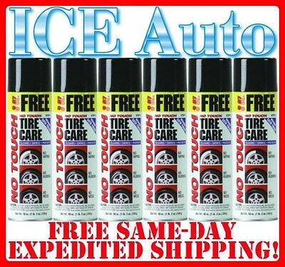 6 PACK of NO TOUCH Original Tire Care NTBP15 18oz Spray Cans - BEST TIRE - No Touch Tire Care