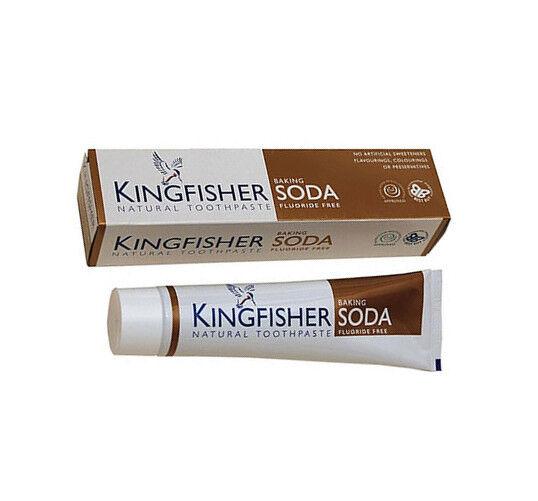 1 x 100ml -KINGFISHER- Vegane Zahnpasta, Zahncreme mit Natron - Ohne Fluorid