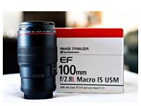 Canon 100mm f2.8 IS Macro Lens