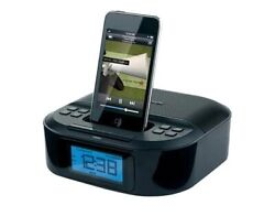Memorex Digital FM Alarm Clock Radio iPod iPhone Apple Docking Station Mi4390BLK