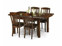 Julian Bowen extending dining table and 4 chairs