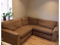 Nice Modern 4-5 Seater Brown Corner Sofa Good Condition Can Deliver
