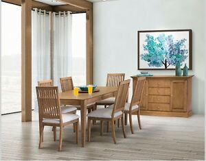 Brand New Birch Dining Table with 6 Chairs