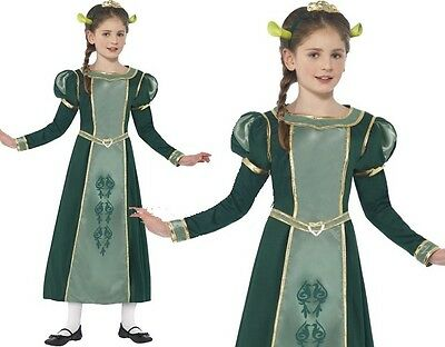 Shrek Girl Kostüm (Childrens Girls Licensed Fiona from Shrek Fancy Dress Costume by Smiffys)